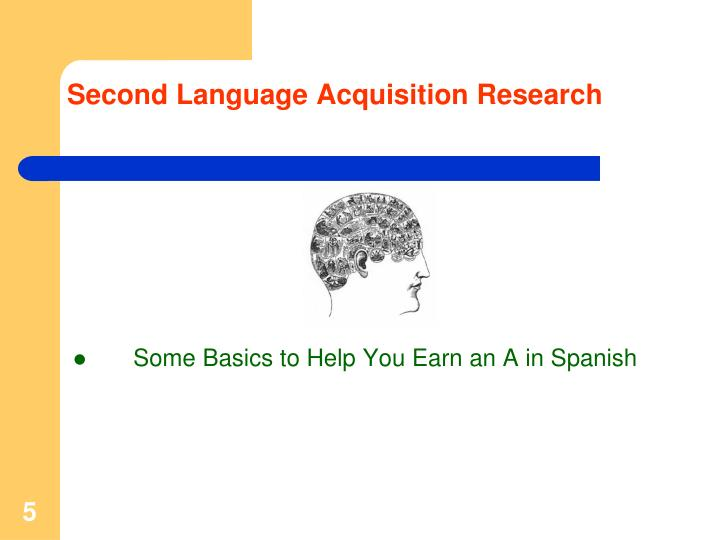 Second Language Acquisition Research