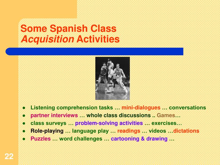 Some Spanish Class