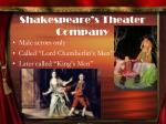 shakespeare s theater company