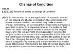 change of condition1