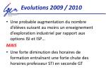 evolutions 2009 2010