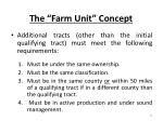 the farm unit concept