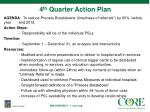4 th quarter action plan