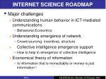 internet science roadmap