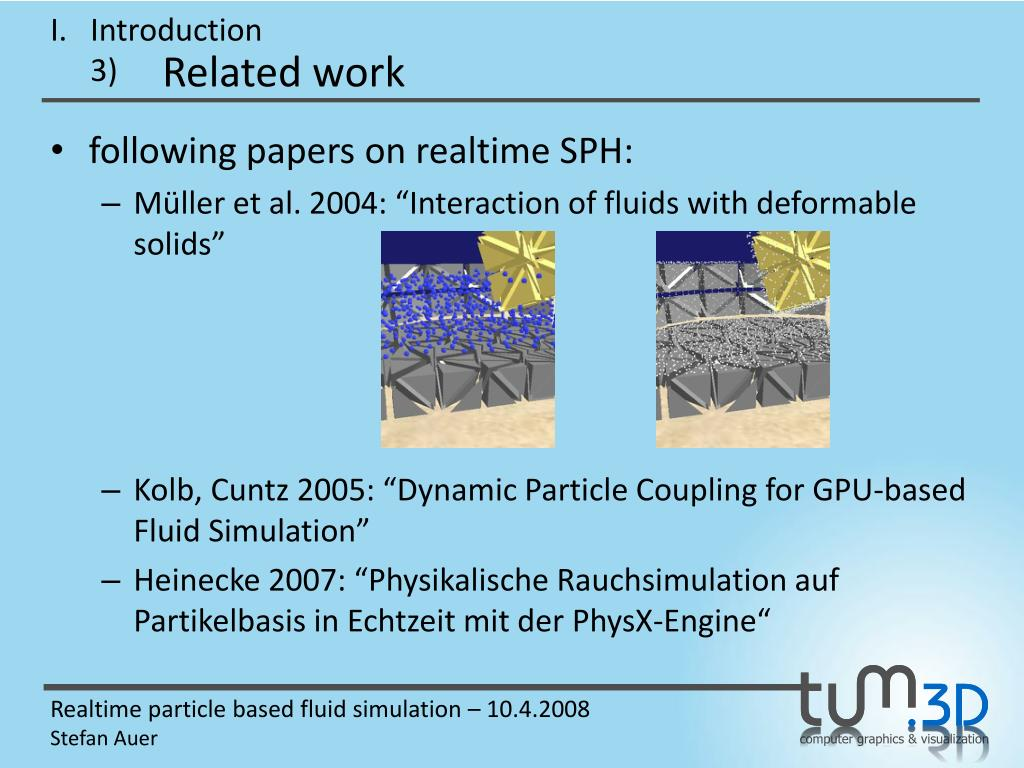 PPT - Realtime particle based fluid simulation PowerPoint