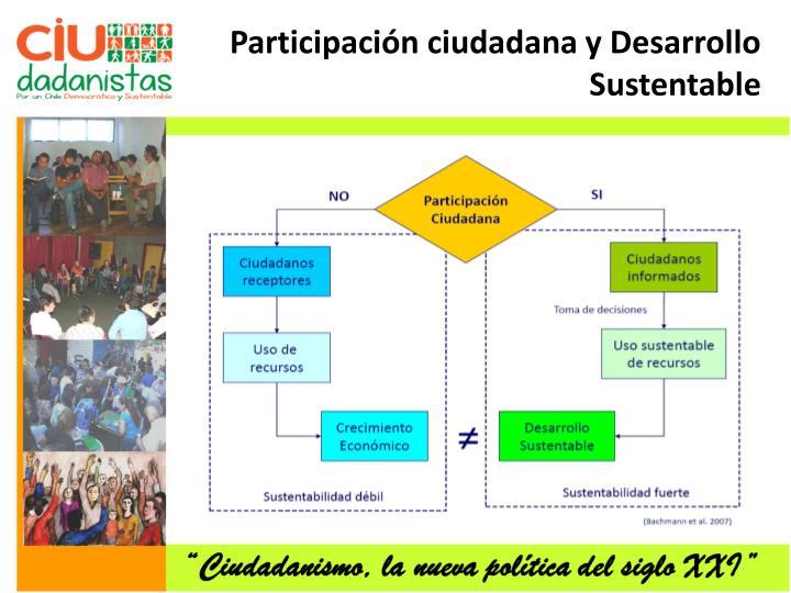 Participación ciudadana y Desarrollo Sustentable