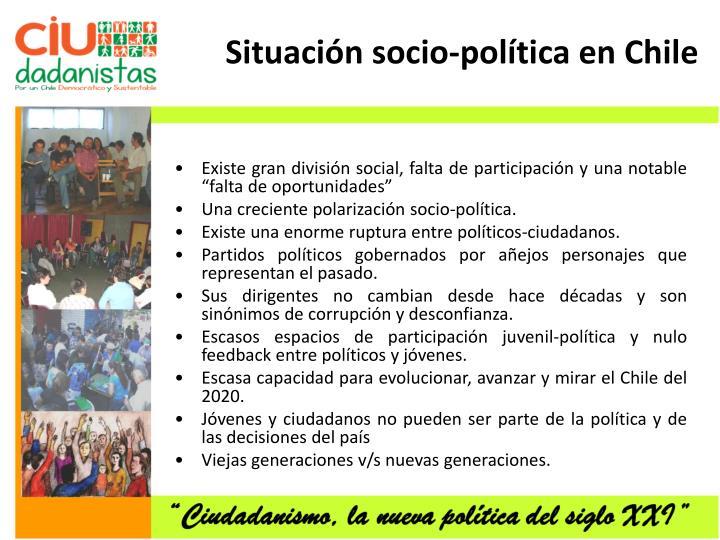Situación socio-política en Chile