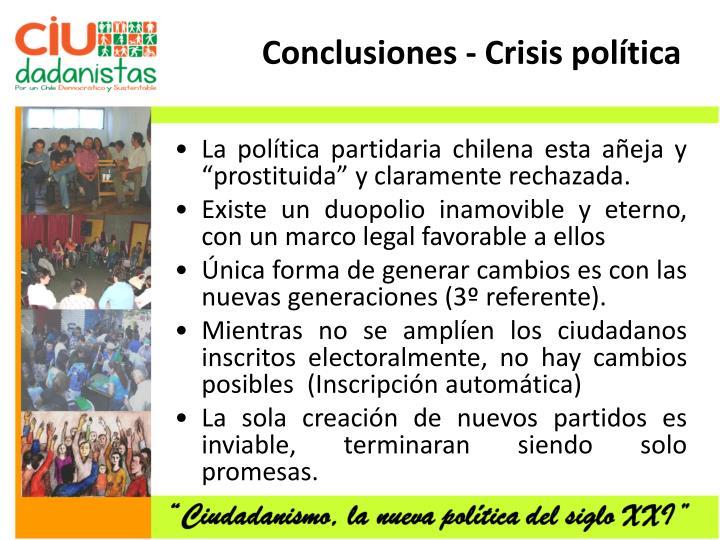 Conclusiones - Crisis política