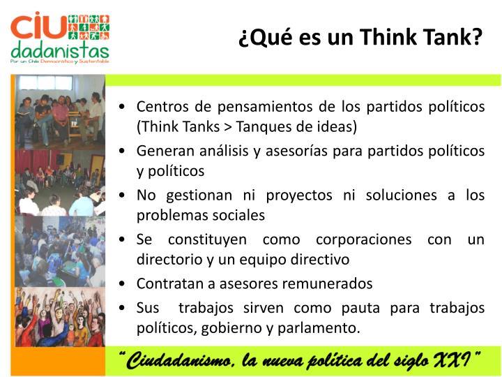 ¿Qué es un Think Tank?