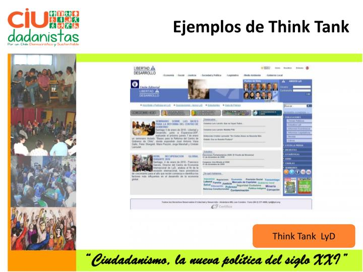 Ejemplos de Think Tank