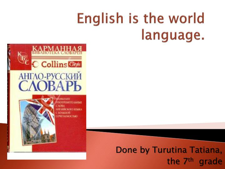 english is the world language n.