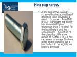 hex cap screw