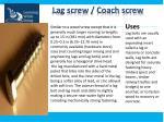 lag screw coach screw