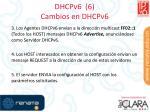 dhcpv6 6 cambios en dhcpv6