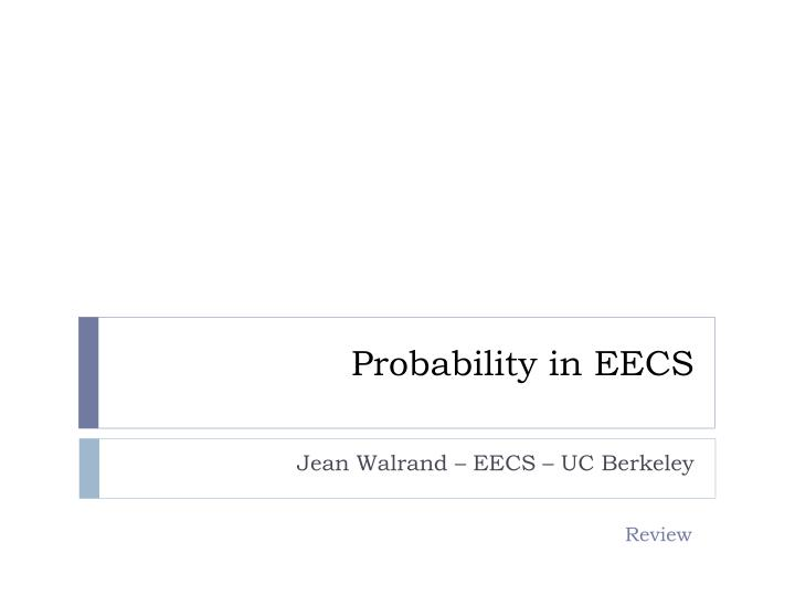 probability in eecs n.