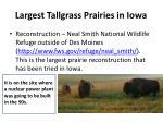 largest tallgrass prairies in iowa