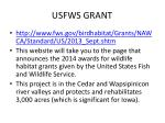 usfws grant