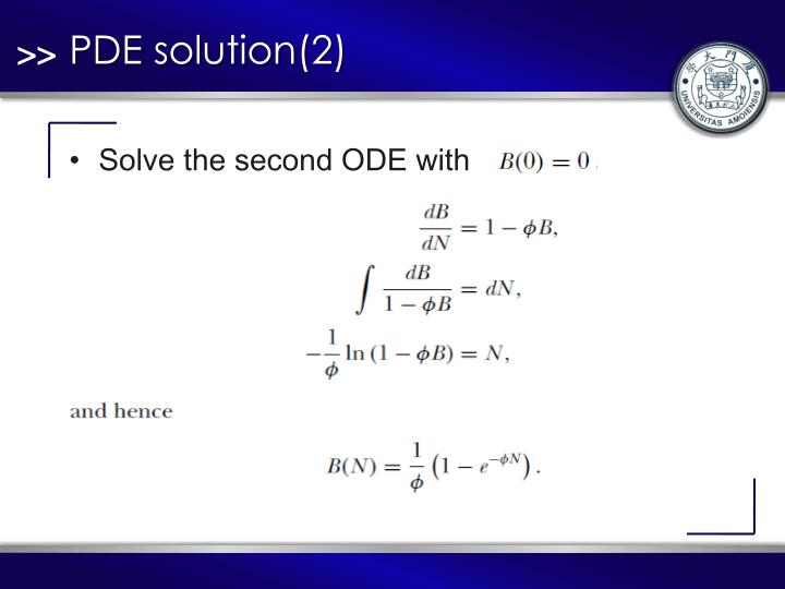 PDE solution(2)