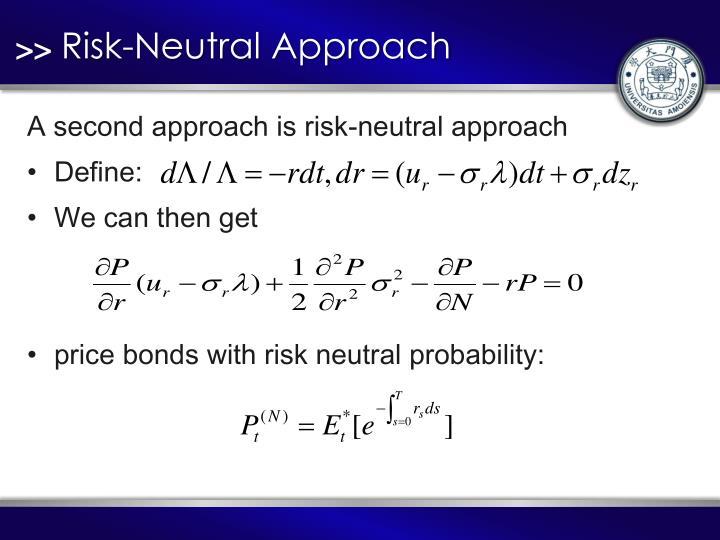 Risk-Neutral Approach