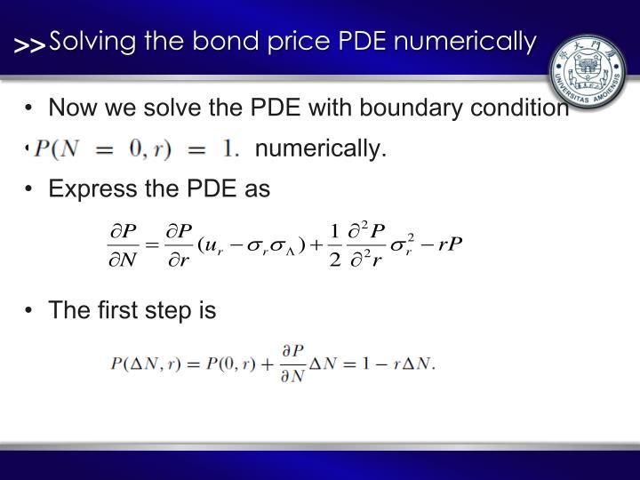 Solving the bond price