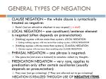 general types of negation