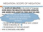 negation scope of negation