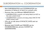subordination vs coordination