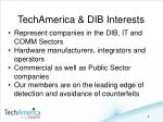 techamerica dib interests