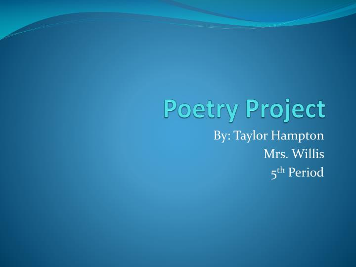 poetry project n.