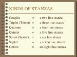 kinds of stanzas