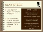 near rhyme