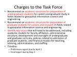 charges to the task force