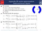 appendix iii sector approximation field and forces dipole