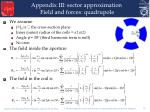 appendix iii sector approximation field and forces quadrupole