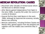 mexican revolution causes