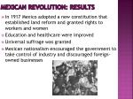 mexican revolution results