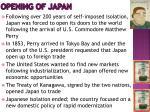 opening of japan