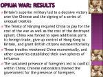 opium war results