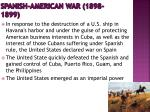 spanish american war 1898 1899