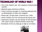 technology of world war i