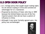 u s open door policy