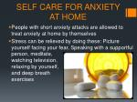 self care for anxiety at home