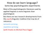 how do we learn language some key psycholinguistic experiments