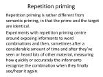 repetition priming