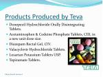 products produced by teva
