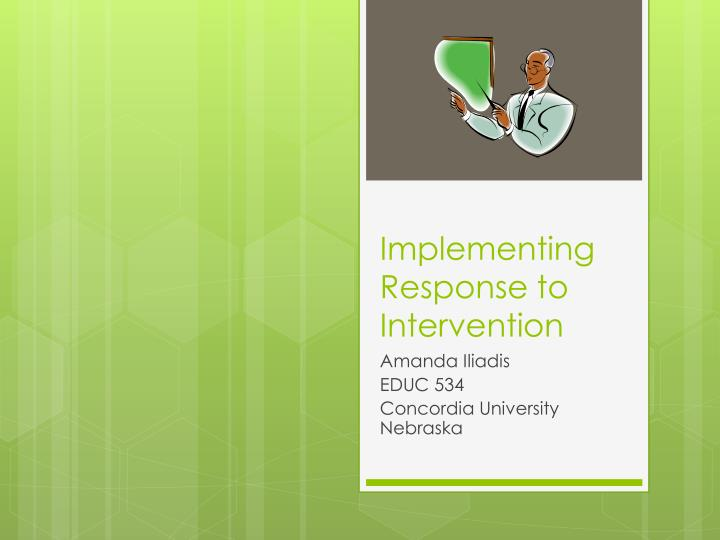 implementing response to intervention n.