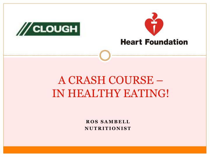 a crash course in healthy eating n.