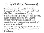 henry viii act of supremacy