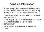 zwinglian reformation