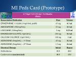 mi peds card prototype